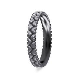 Spinning Ring - Black Elegance