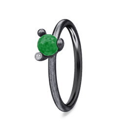 Spinning Ring - Black Jade Star